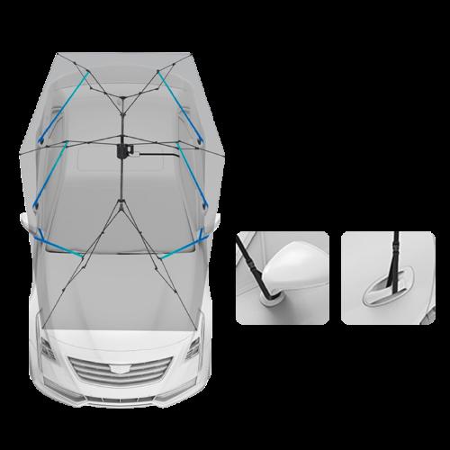 ô che ô tô - bộ khung chắc chắn