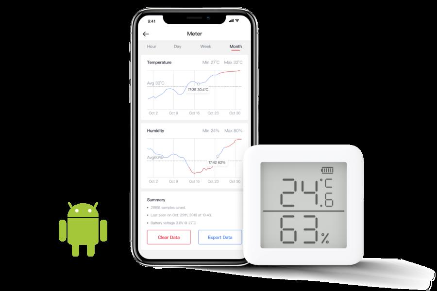 Nhiệt kế và ẩm kế - hệ điều hành app